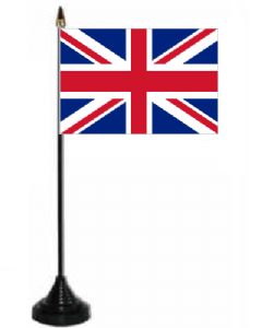 Great Britain Union Jack Desk / Table Flag with plastic stand and base.